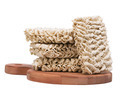 Ramen instant raw noodles on wooden plank 3/4 general view - PhotoDune Item for Sale