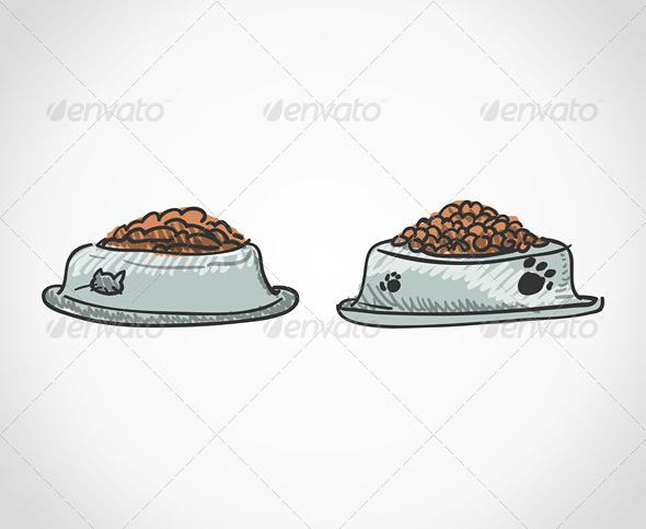 Animal Food Bowl - Animals Characters