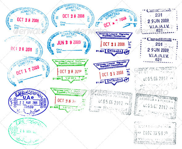 Border Stamps - Travel Conceptual