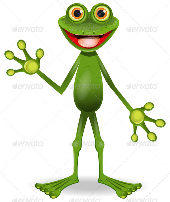 very cheerful frog - Animals Characters