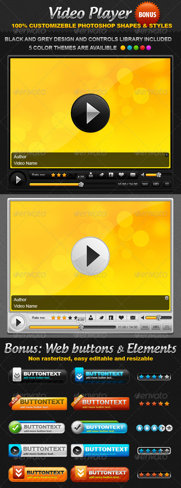 Video Player and Bonus - User Interfaces Web Elements