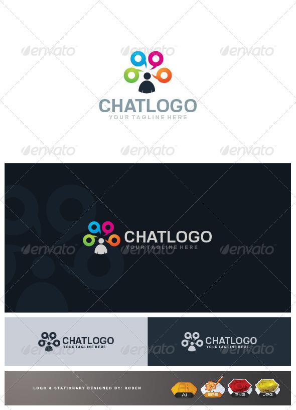 Chat Logo - Humans Logo Templates