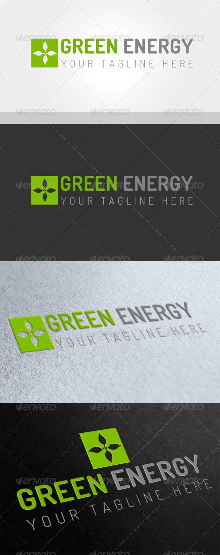Green Energy Logo - Vector Abstract