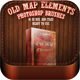 Old Map Elements Brushes - GraphicRiver Item for Sale