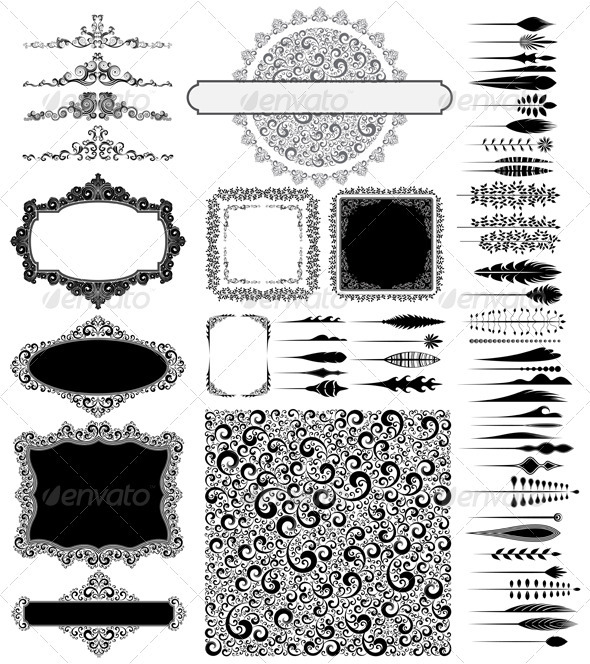 Design elements collection - Decorative Vectors