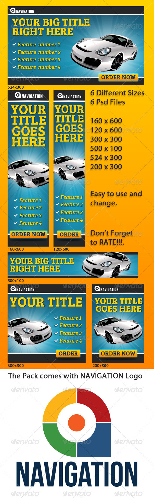 Web Banners - Banners & Ads Web Elements