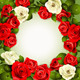 Background with White and Red Roses  - GraphicRiver Item for Sale