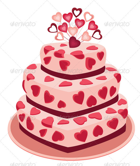 Romantic Cake - Valentines Seasons/Holidays