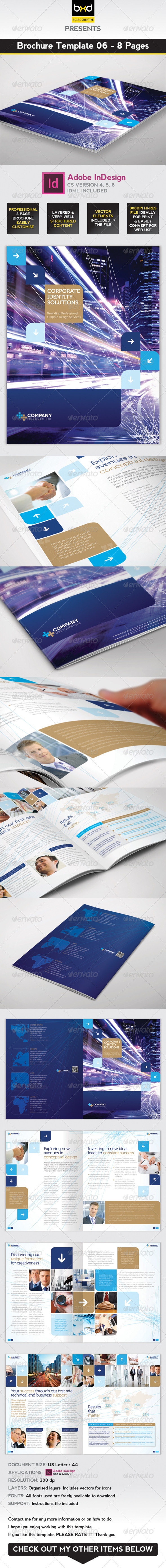 Brochure Template InDesign Page Layout By BoxedCreative - 8 page brochure template
