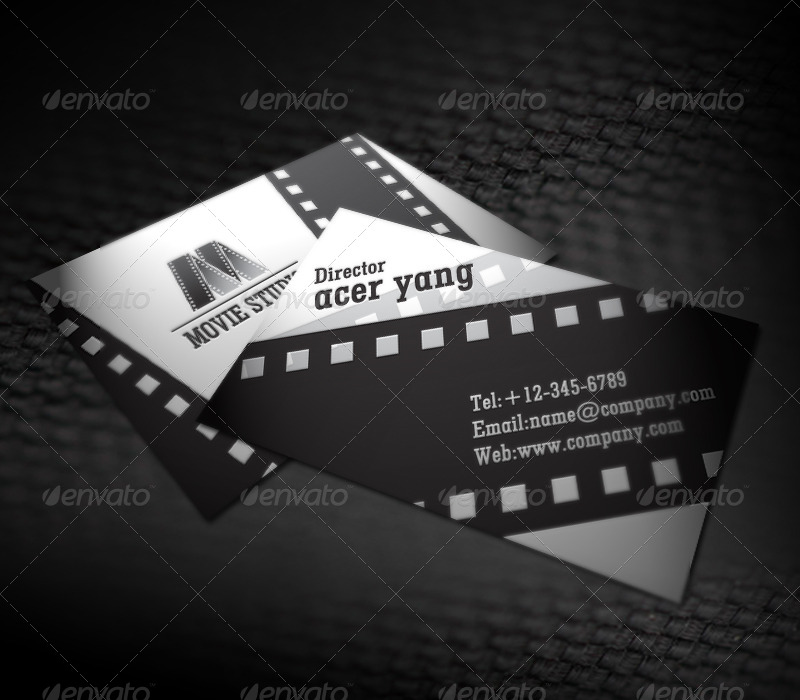 Movie studio business card by acerchina graphicriver movie studio business card colourmoves