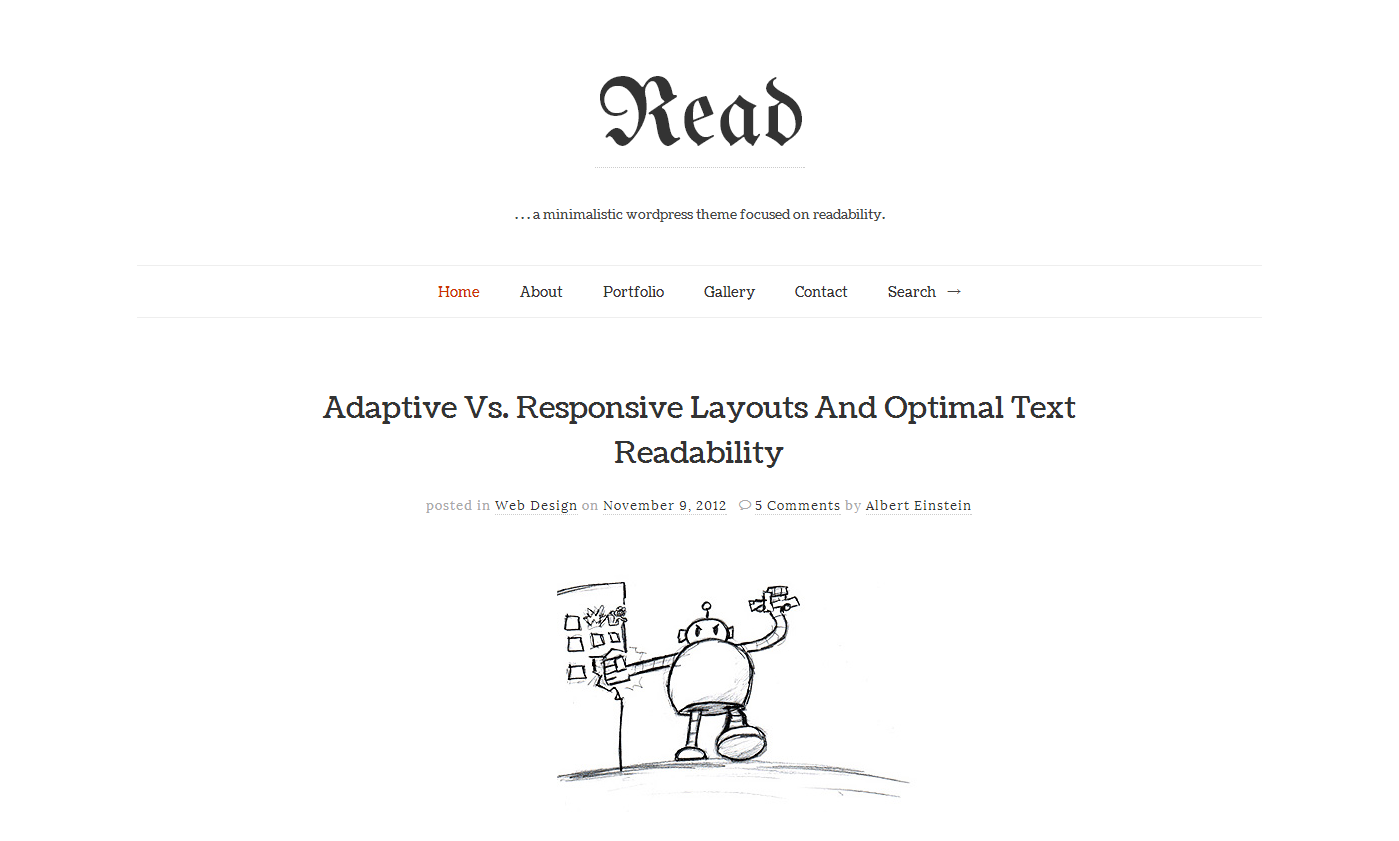 Read responsive html5 minimalist template by pixelwars for Minimalist living websites