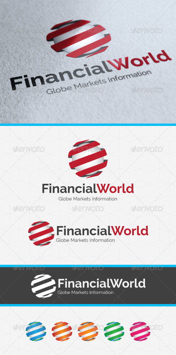 Financial World Logo Template - Vector Abstract