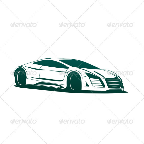Sports Car Vector - Man-made Objects Objects