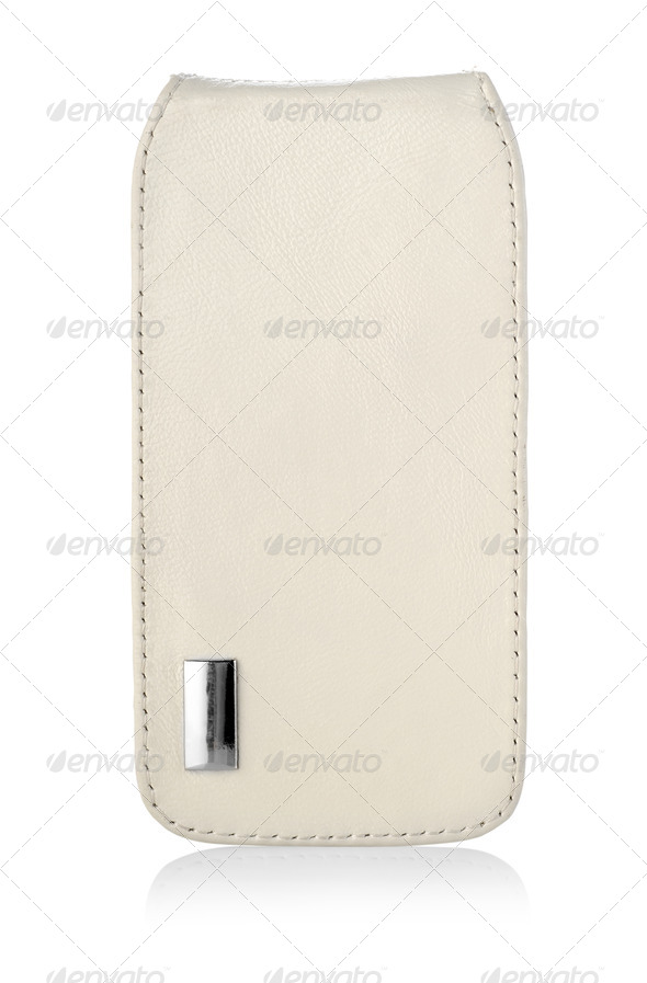 Beige case for mobile phone - Stock Photo - Images