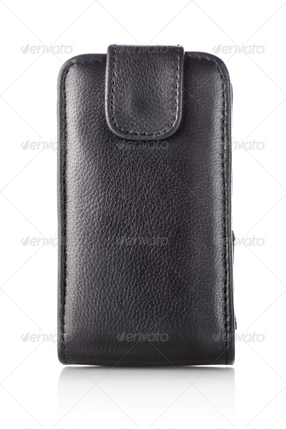 Black case for mobile - Stock Photo - Images