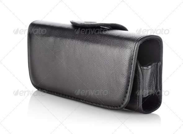 Black bag for mobile - Stock Photo - Images