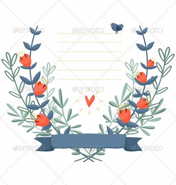 Floral Frame - Decorative Symbols Decorative