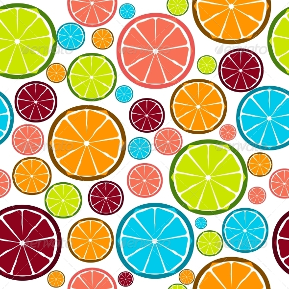 Fruit Design Seamless Pattern - Seasons Nature