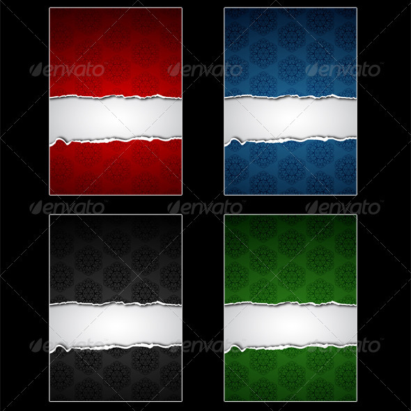 Torn Papers Set - Backgrounds Decorative