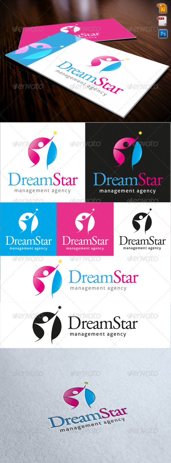 Dream Star Logo - Humans Logo Templates
