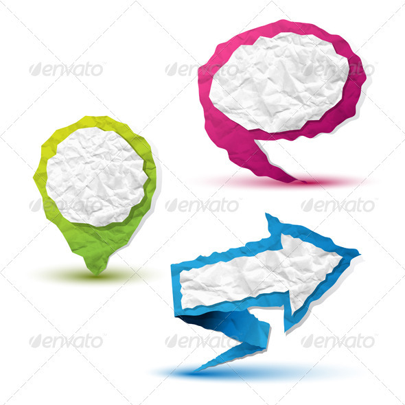 Crumpled Paper Pointers - Decorative Symbols Decorative