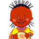 Vector African baby Girl with coconut - GraphicRiver Item for Sale