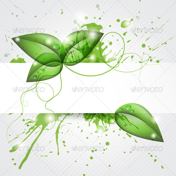 Leaves Background - Backgrounds Decorative