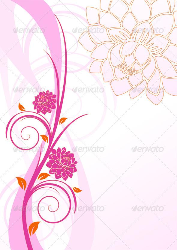 Swirl and Flowers - Flourishes / Swirls Decorative