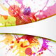 Background Element with Color Splashes - GraphicRiver Item for Sale
