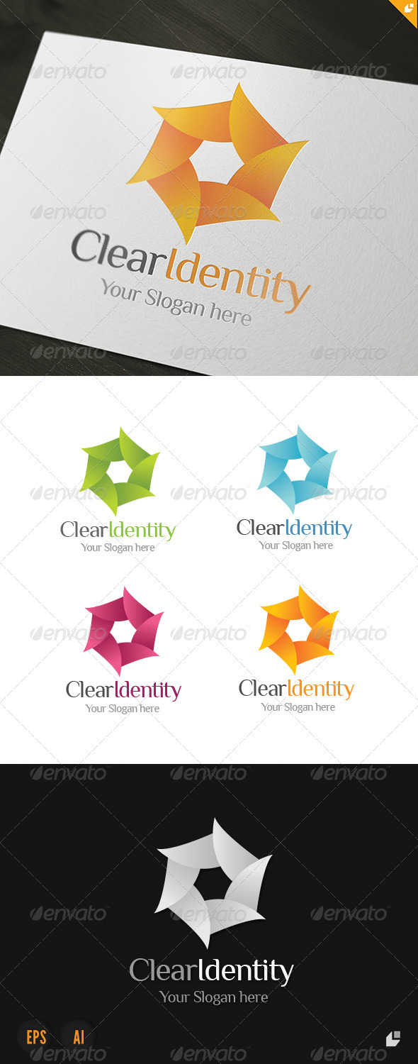 Clear Identity Logo - Vector Abstract