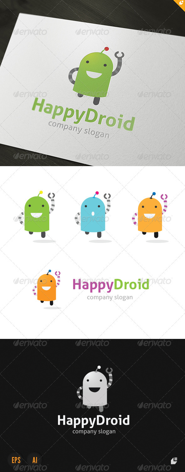 Happy Droid Logo - Objects Logo Templates
