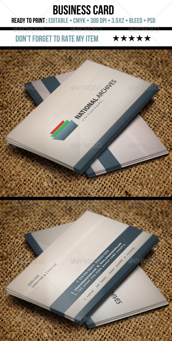 Nice Business Card - Corporate Business Cards