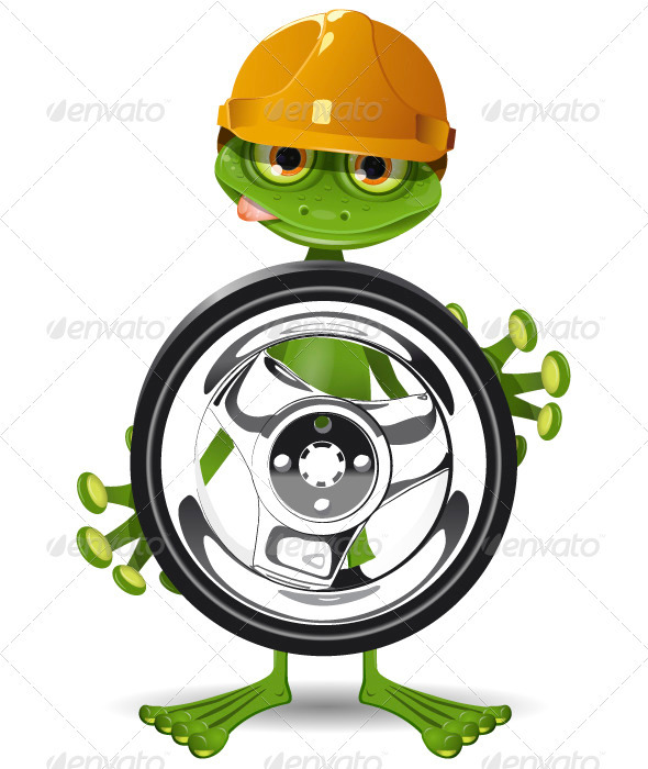 Frog and Wheel - Animals Characters