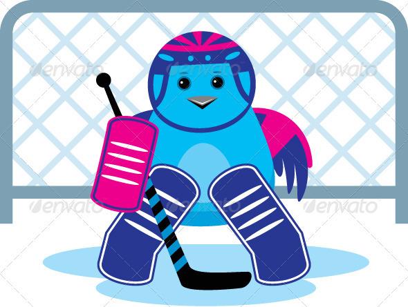Bird as Hockey Goalkeeper - Sports/Activity Conceptual