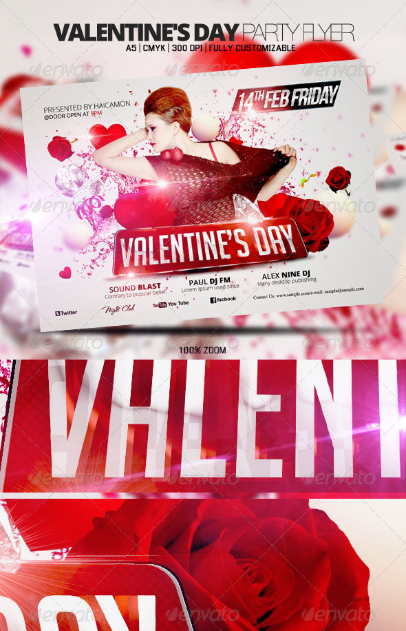 Valentine's Day Party Flyer - Holidays Events