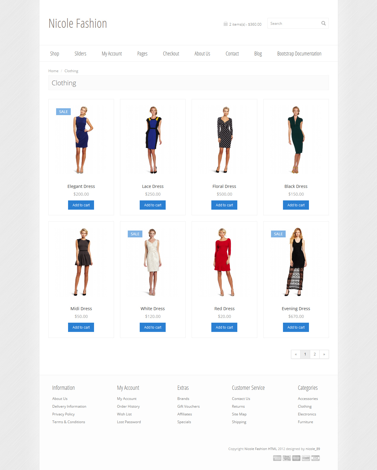 Nicole Fashion Bootstrap 3 Ecommerce Template By Nicole89 Themeforest