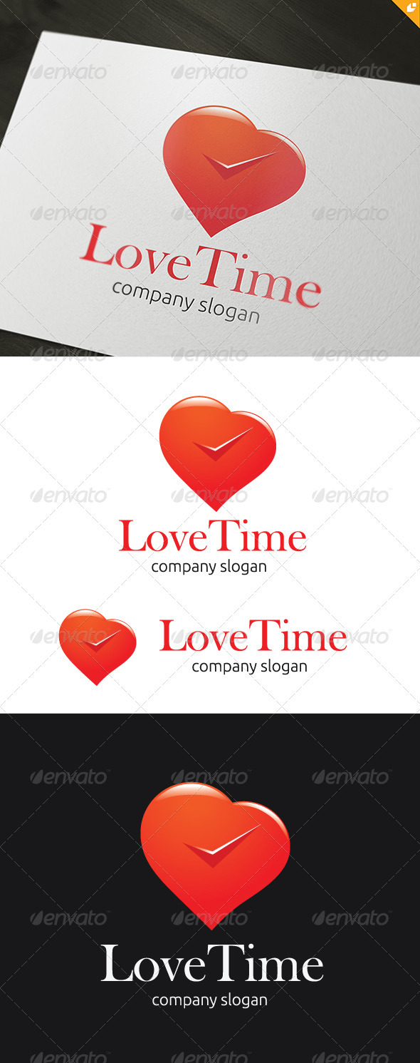 Love Time Logo - Vector Abstract