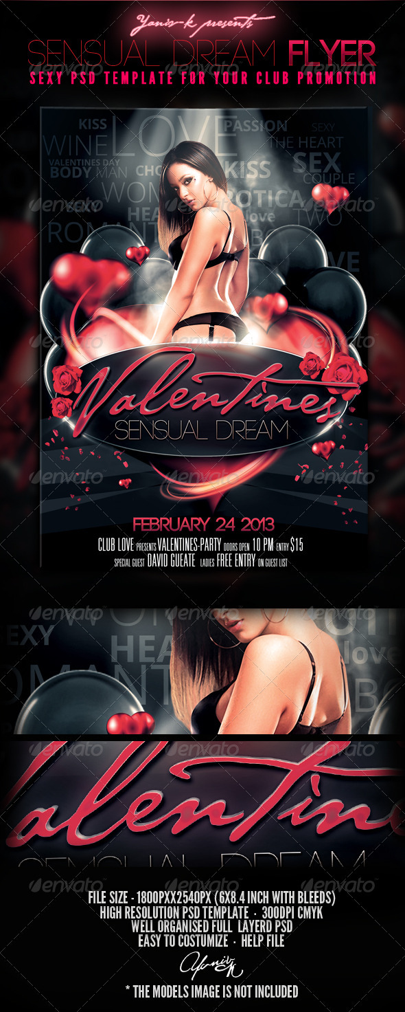 Sensual Dream Flyer Template - Holidays Events