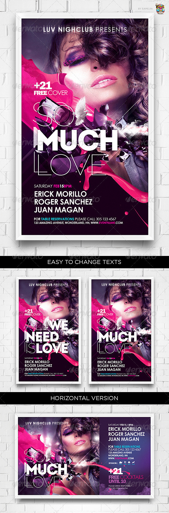 So Much Love Flyer Template - Clubs & Parties Events