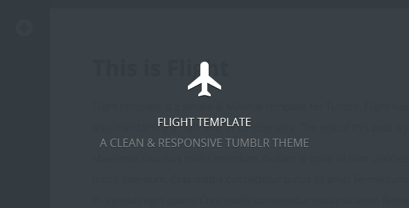 Flight – A Clean & Responsive Template