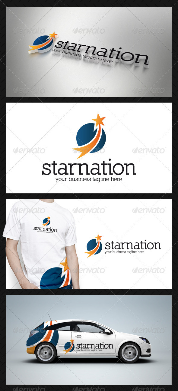 Star Circle Logo Template - Vector Abstract