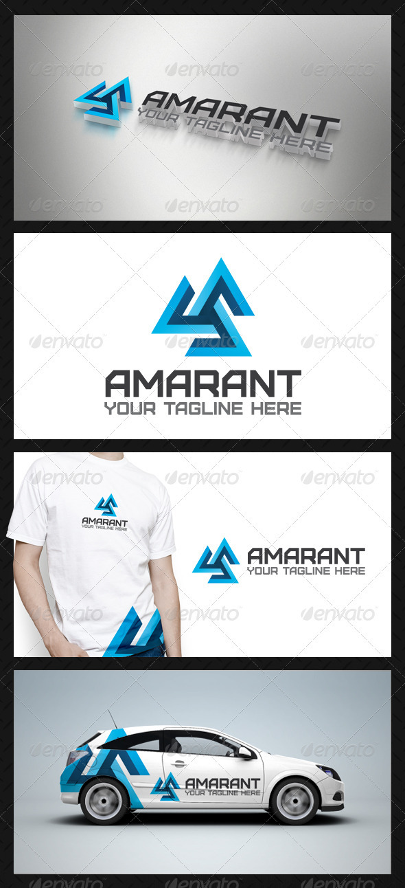Amarant Tech Logo Template - Vector Abstract