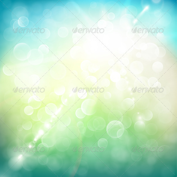 Sunny Summer Day Background - Backgrounds Decorative