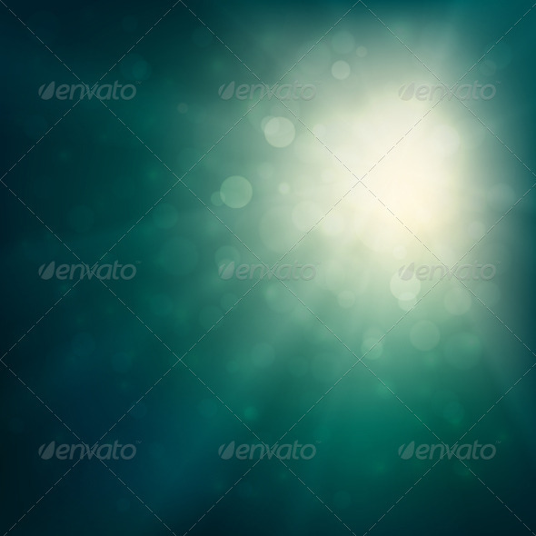 Green Defocused Lights Background  - Backgrounds Decorative