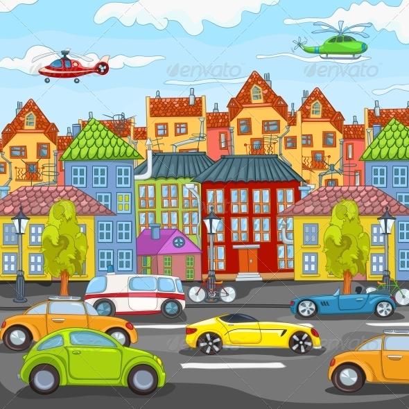 City Cartoon - Landscapes Nature