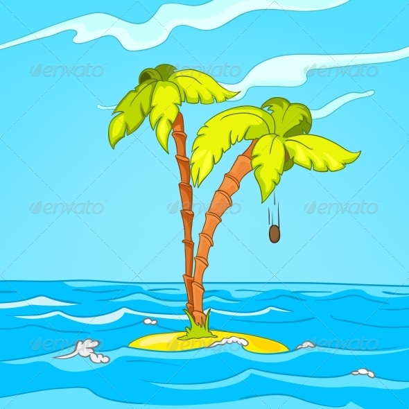 Beach Cartoon - Landscapes Nature