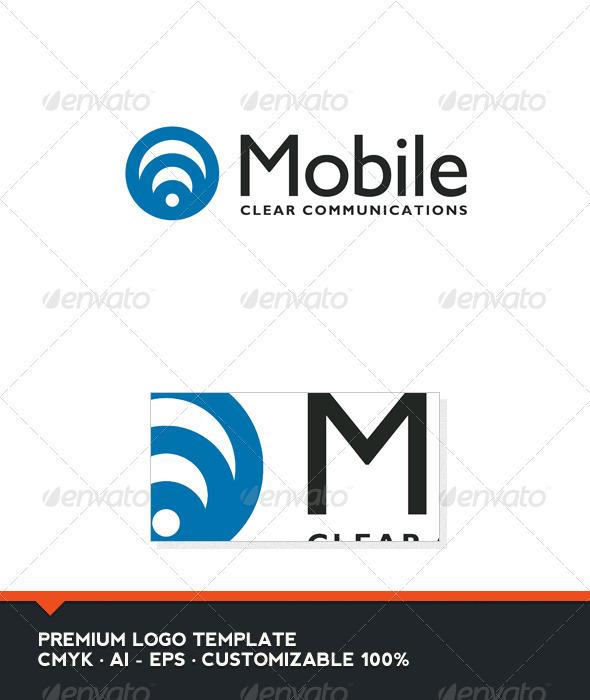 Mobile Logo Template - Vector Abstract