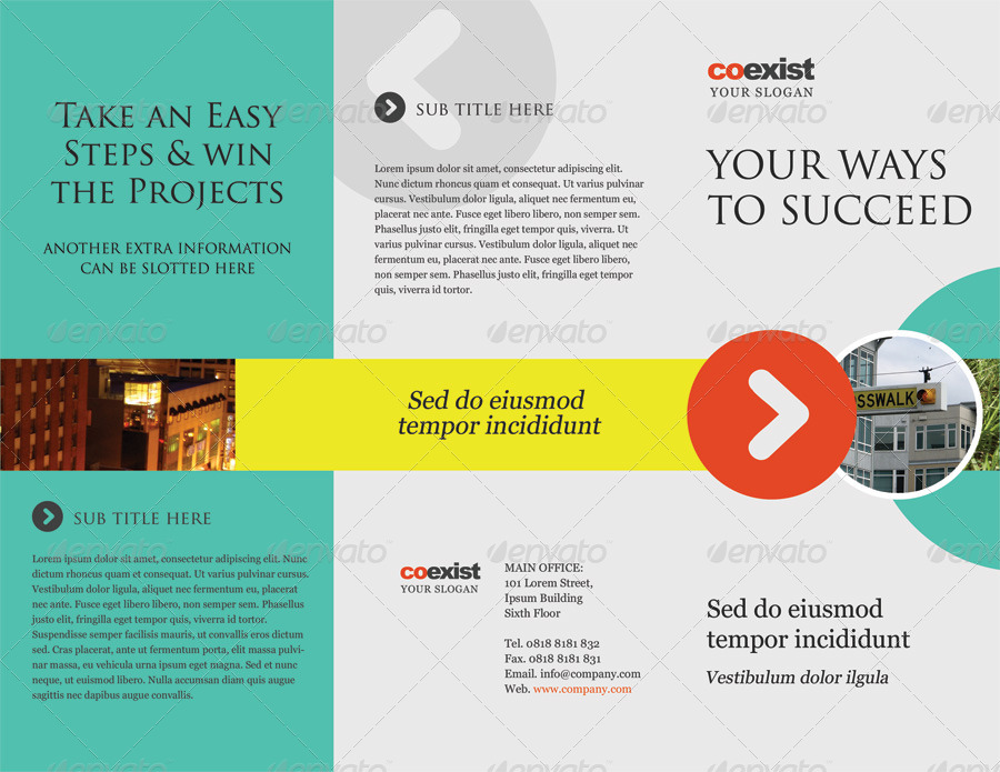 Coexist Trifold Brochure Psd Template By Kinzi21 Graphicriver