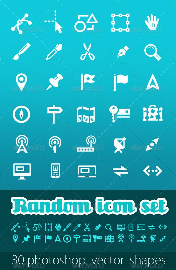 Random Vector Icon Set - Web Icons