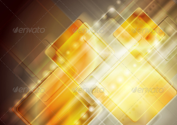 Vector yellow technology design - Backgrounds Decorative